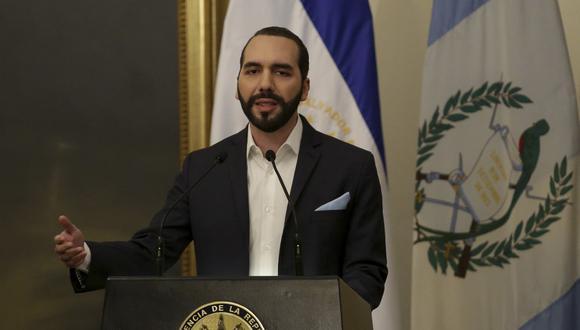 El presidente de El Salvador Nayib Bukele. (Photo by MARVIN RECINOS / AFP)