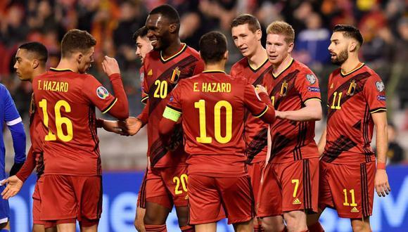 Los 'Diablos Rojos' se mantienen al tope de la clasificación mundial de la FIFA por segundo año consecutivo. Entre sus figuras se encuentran Eden Hazard y Kevin de Bruyne.