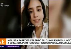 Melissa Paredes se realiza prueba de COVID-19 para celebrar su cumpleaños en familia