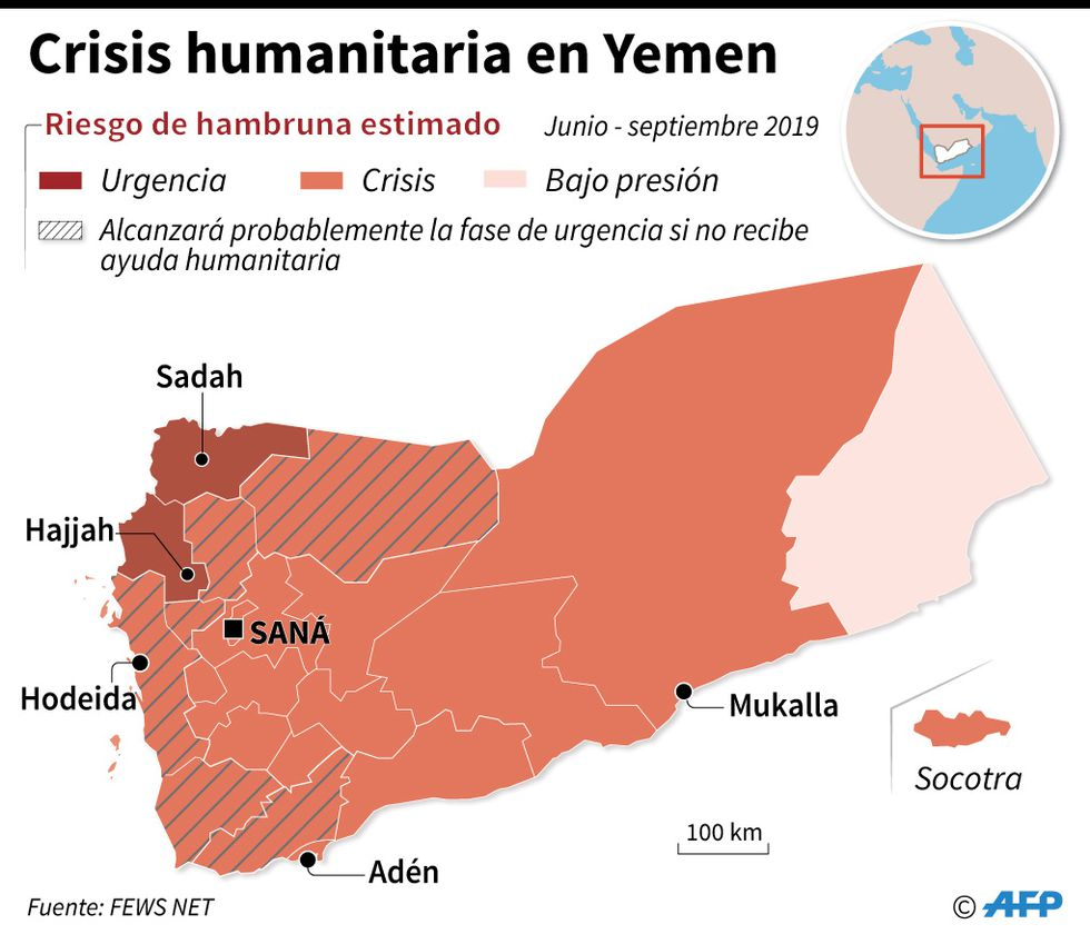 Yemen. Fuente: AFP