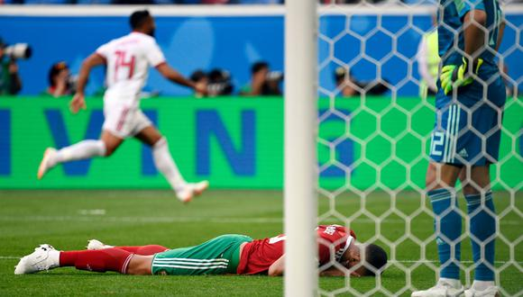 Irán ganó 1-0 a Marruecos gracias a un autogol de Bouhaddouz, por primera fecha del Grupo B de Rusia 2018. (Foto: AFP)