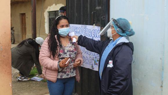 Para el día de las elecciones se establecieron protocolos contra el COVID-19. (Foto: ONPE)