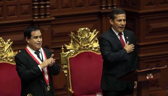 Oposición destacó el mensaje que dio Humala en el Congreso