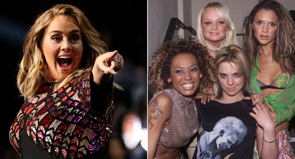 Adele, la más ilustre fan de las Spice Girls. (Foto: Agencias)