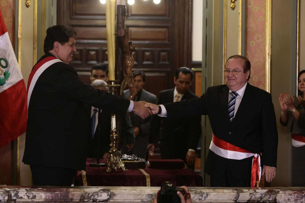 En mayo del 2011, Luis Nava juró como ministro de la Producción del segundo gobierno de Alan García: (Foto: Archivo El Comercio)