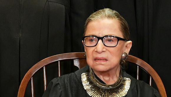 Fallece magistrada de Corte Suprema de Estados Unidos Ruth Bader Ginsburg a los 87 años. (AFP).