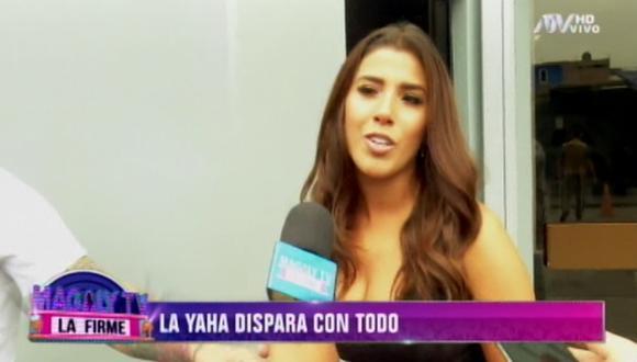 """La cantante Yahaira Plasencia  agregó que el tema """"ya está aclarado"""" y todo estaba en """"los videos"""". (Captura de pantalla)"""