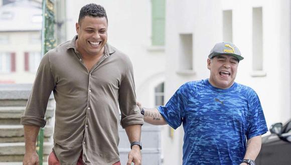 Ronaldo Nazario contó una anécdota con Diego Maradona. (Foto: AFP)