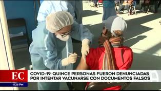 Coronavirus en Perú: detienen a 15 personas que pretendían vacunarse con documentos falsos