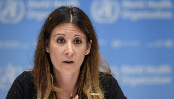 Maria Van Kerkhove, responsable técnica de la OMS en la lucha contra el coronavirus. (Foto: Fabrice COFFRINI / POOL / AFP).