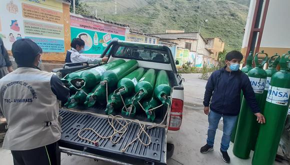 El Hospital Subregional de Andahuaylas recibió gran parte de los contenedores de oxígeno. (Foto: Diresa Apurímac)