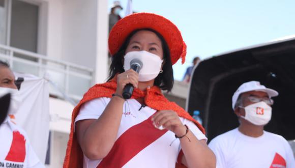 La candidata presidencial Keiko Fujimori ofreció sus disculpas a los exministros Jaime Saavedra y Fernando Zavala. (Foto: GEC)