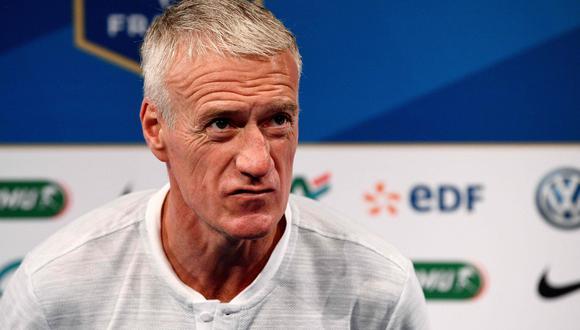 Didier Deschamps, entrenador de Francia, conversó con la cadena 'Télefoot' y respondió de forma contundente a Adrien Rabiot. Este último expresó su molestia el último viernes (vía Instagram) tras no ser convocado para Rusia 2018. (Foto: AFP)