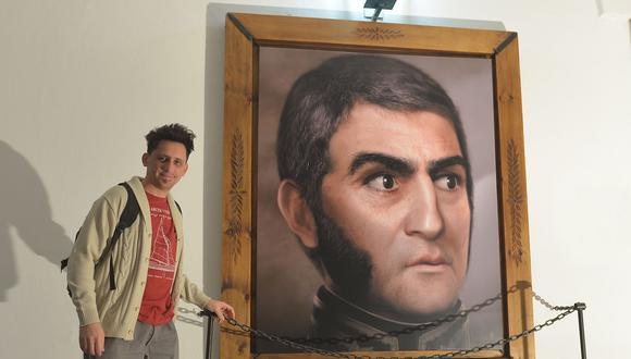 El artista y diseñador argentino Ramiro Ghigliazza, el creador del retrato digitalizado de don José de San Martín