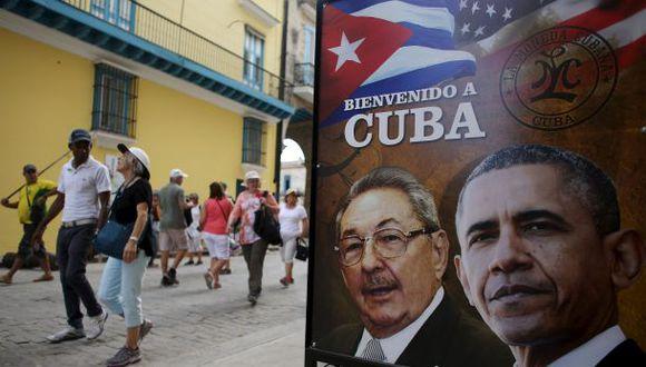 La primera foto pública de Obama en La Habana, Cuba. (Foto: Reuters)