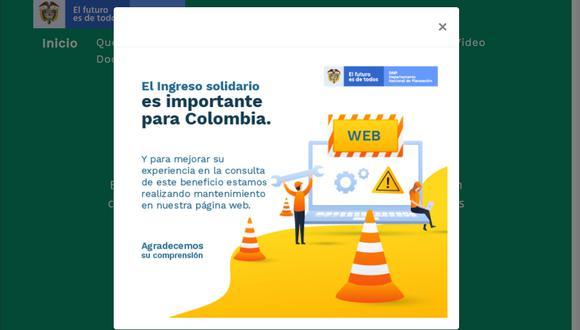 Bono Solidario Colombia: ¿cuándo será rehabilitada la página del DNP y por qué fue cerrada? (Foto: DNP)