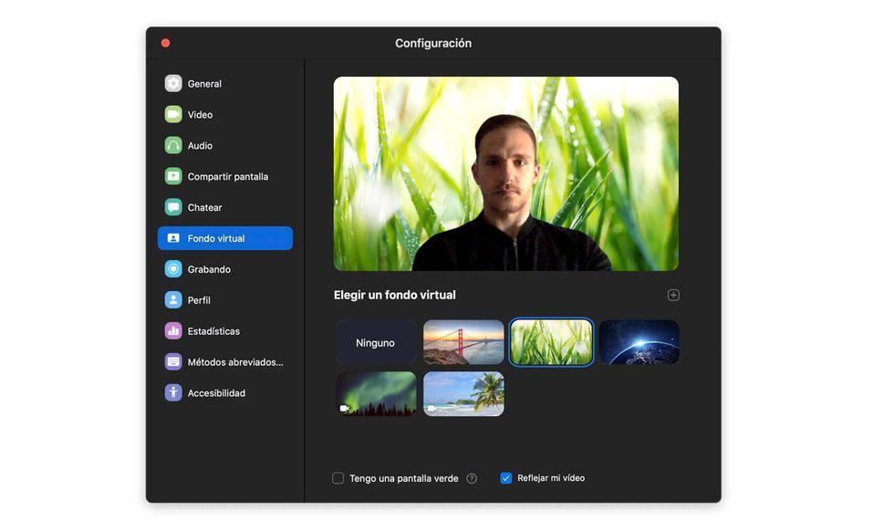 Para poder cambiar tu fondo virual deberás ingresar a la configuración de Zoom desde tu computadora o celular. (Foto: Zoom)