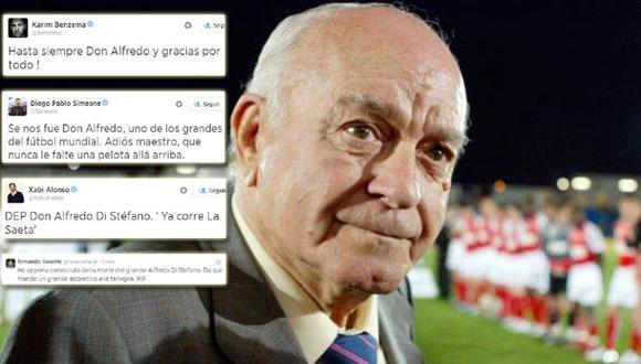El fútbol mundial rinde tributo a Di Stéfano vía twitter