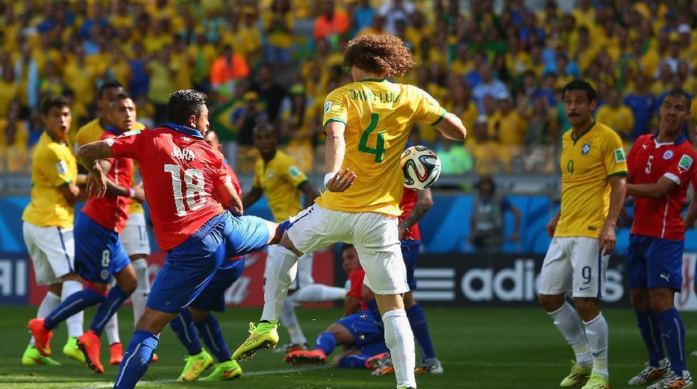 Brasil vs. Chile: mira el gol de David Luiz desde todos ángulos - 1