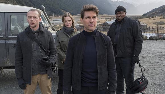 "Simon Pegg, Rebecca Ferguson, Tom Cruise y Ving Rhames en escena de ""Mission: Impossible - Fallout"". (Foto: AP)"