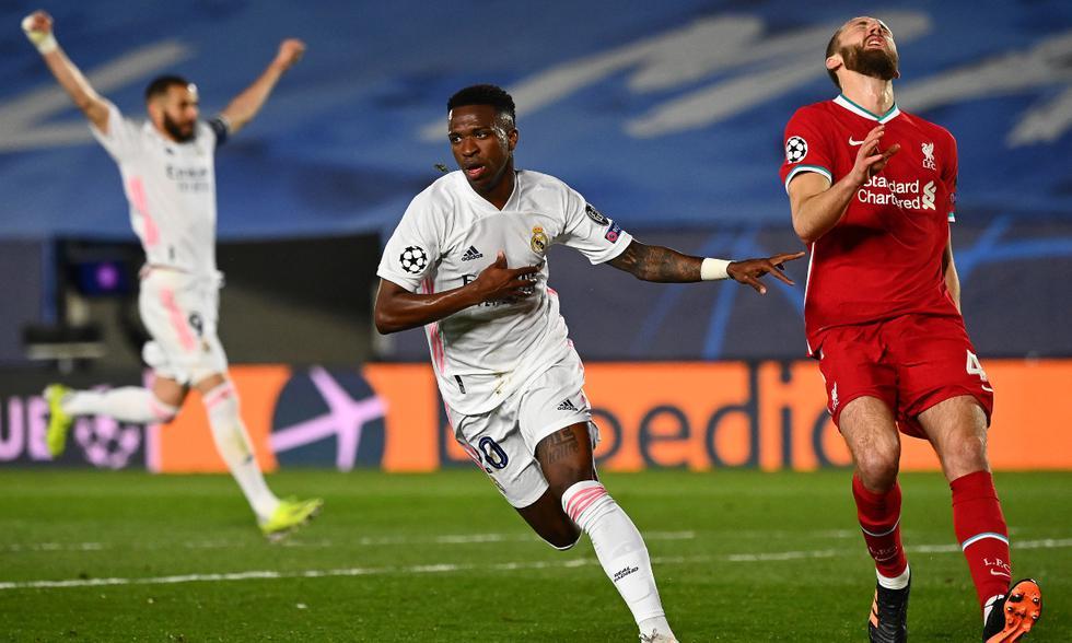 Real Madrid vence a Liverpool en la ida de cuartos de final de Champions League | Foto: AFP