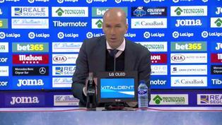 """Zidane tras empatar con el Getafe: """"Quedan muchos puntos"""""""