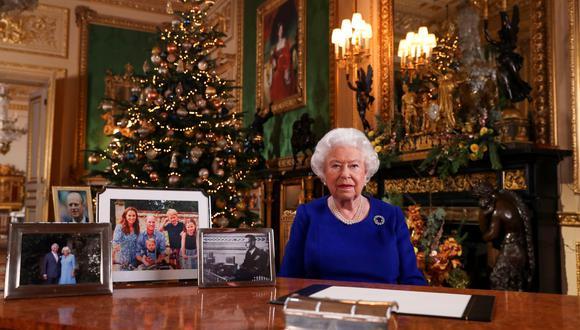 """La reina Isabel II admite haber tenido un año """"movido"""" en su mensaje de Navidad. (Steve Parsons/Pool via REUTERS)."""