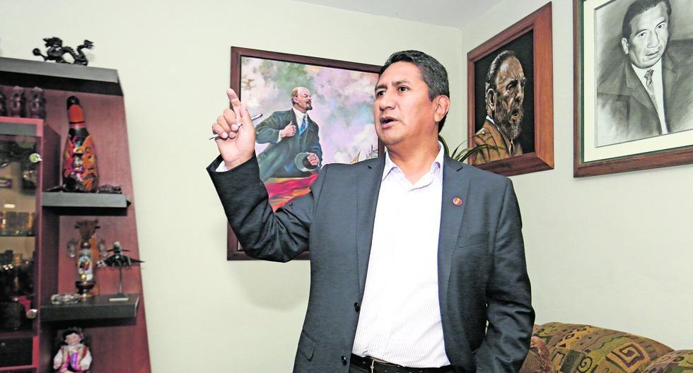 Bancada de Perú Libre, cuyo portavoz es Waldemar Cerrón, emitió comunicado en defensa del líder del partido, Vladimir Cerrón, y muy crítico con ministro de Justicia, Aníbal Torres. (Foto: Grupo El Comercio)