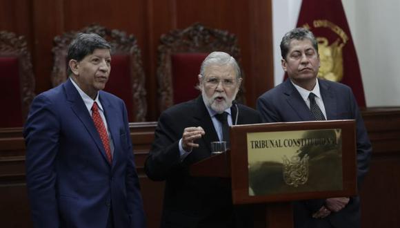 Tribunal Constitucional se pronunció a favor de recurso contra la ley de publicidad estatal (Foto: Antonhy Niño de Guzman)