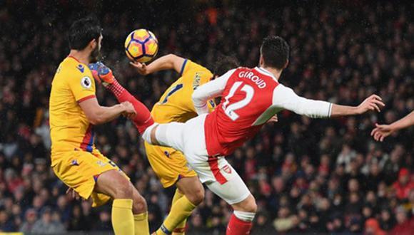 El delantero francés Olivier Giroud consiguió este prestigioso galardón tras su fantástico gol de taco con el Arsenal en la Premier League. (Foto: Agencias)