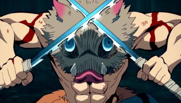"""Inosuke es el guerrero de mal genio de """"Demon Slayer"""" (Foto: Ufotable)"""