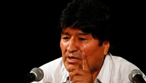 El expresidente boliviano Evo Morales habla durante una conferencia de prensa. (REUTERS / Agustin Marcarian).