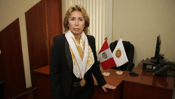 Fiscal contra el crimen organizado del Callao, Sandra Castro, rechazó las versiones del fiscal Supremo Tomás Gálvez, investigado por el caso Los Cuellos Blancos del Puerto. (Foto: GEC)
