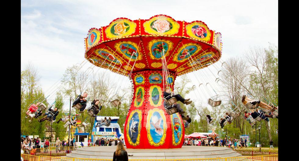 Los juegos mecánicos del parque Pushkin, en Saransk, son gratis.   Foto: Shutterstock