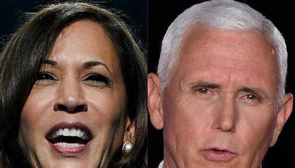 Kamala Harris y Mike Pence protagonizarán el debate del miércoles. La senadora hará relucir su trayectoria de fiscal y el actual vicepresidente defenderá el trabajo de la administración Trump. (AFP)