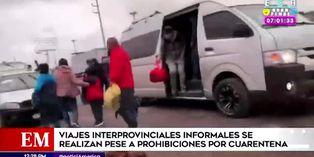 Coronavirus en Perú: se realizan viajes interprovinciales informales a pesar del estado de emergencia