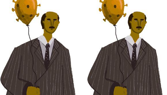 """""""La recesión creada por el COVID-19 no tiene en su origen el fracaso de algún modelo en particular, sino la necesidad muy puntual de ponerle freno a la economía para combatir la pandemia"""". (Ilustración: Giovanni Tazza)."""
