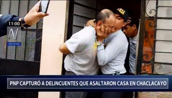 Los detenidos fueron identificados como René Ávila Fernández, Marco Silva Solís, Gersy Javier López, María Rosario Alanya y Graciela Silva Alanya. (Foto: Canal N)