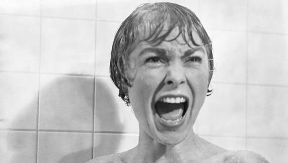 """La inolvidable escena de Janet Leigh  en """"Psicosis""""."""