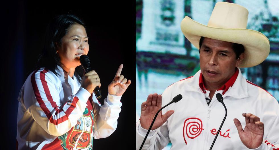 Keiko Fujimori (Fuerza Popular) y Pedro Castillo (Perú Libre, protagonistas de la segunda vuelta de las Elecciones 2021. (Foto: GEC)