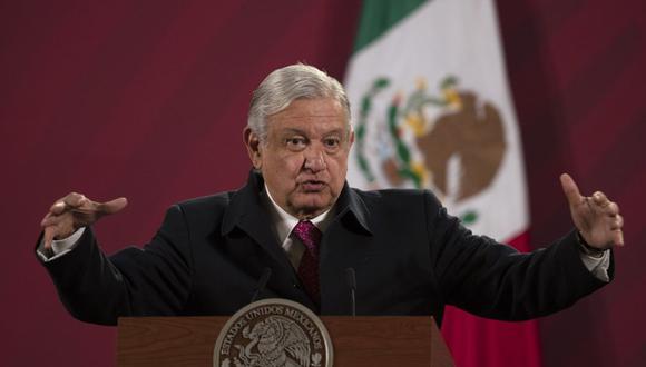 Fotografía de archivo del 18 de diciembre de 2020 del presidente mexicano Andrés Manuel López Obrador durante su conferencia de prensa matutina diaria en Palacio Nacional, en la Ciudad de México. (AP Foto/Marco Ugarte, Archivo).