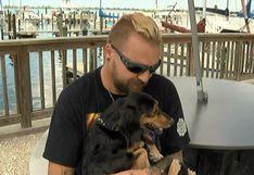 Facebook: Hombre recupera a perro que naufragó en una tormenta