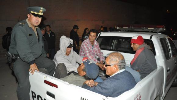 La policía captura a más de 30 delincuentes en Lima Norte