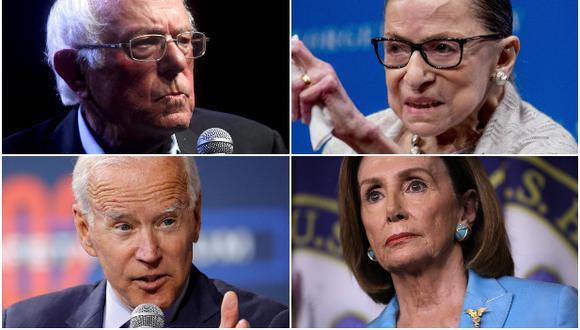 La reciente hospitalización del senador Bernie Sanders vuelve a poner el foco en la avanzada edad de los candidatos demócratas a la presidencia de EE.UU., y del resto de líderes políticos en Washington, que incluye al presidente Donald Trump. (AP / Reuters)