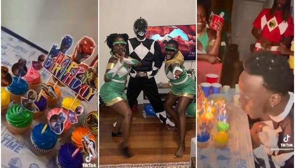 Le prometieron de niño que le harían una fiesta temática de Power Rangers y cumplen su promesa en su cumpleaños 21. (Fotos: @AnAmazingFeat)