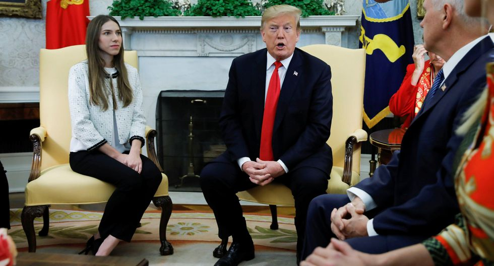 Venezuela   Fabiana Rosales: Donald Trump recibe a la esposa de Juan Guaidó en la Casa Blanca. (Reuters).