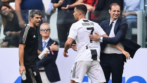 Massimiliano Allegri contó las razones de la ausencia de Cristiano Ronaldo en The Best (Foto: AFP).
