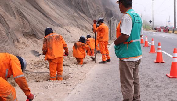 Cerco perimetral en el área de los acantilados tiene como propósito prevenir accidentes y proteger la integridad de las personas que circulan por la Costa Verde.(Foto: Difusión)