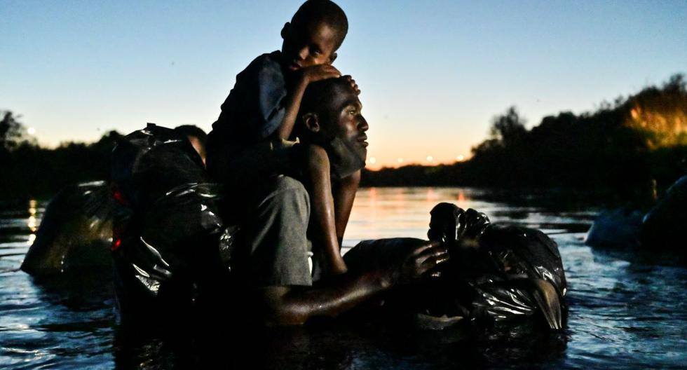 Haitian migrants withdraw Camps on the US-Mexico border