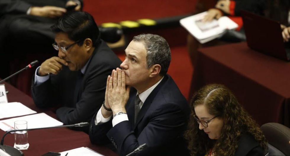 Ante la Comisión de Constitución, primer ministro Salvador del Solar reitera necesidad de adelantar las elecciones (Foto: Renzo Salazar)